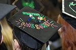 Fashionable chapeaus at Commencement