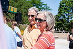 Sweet treat, fond farewell: Campus says goodbye to Tom and Cathy Harden