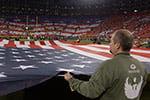 Adult Degree military veterans featured in pre-game Lambeau Field tribute