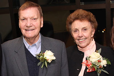Reception honors Dr. Herbert and Crystal Sandmire
