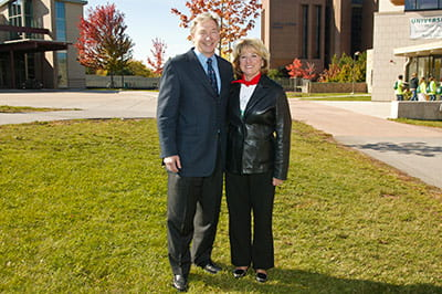Tom Olson and Ginny Riopelle