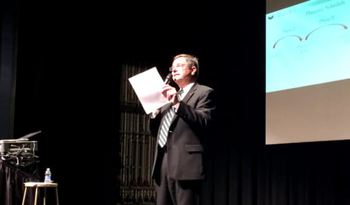 Chancellor addresses second town hall meeting on March 6.