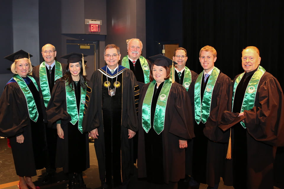 Chancellor Miller and Trustees
