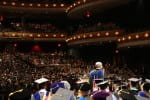 Commencement from the back of Weidner Center stage