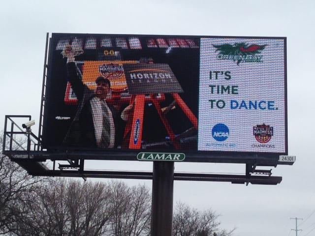 Green Bay Men's Basketball Billboard