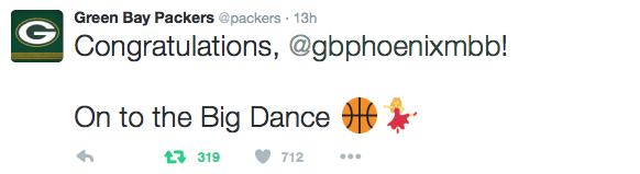 Packers tweet