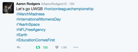 Aaron Rodgers tweet
