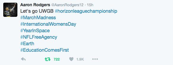 Aaron Rodgers tweet