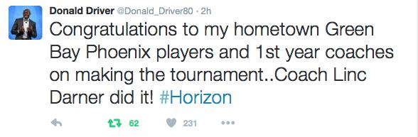 Donald Driver tweet