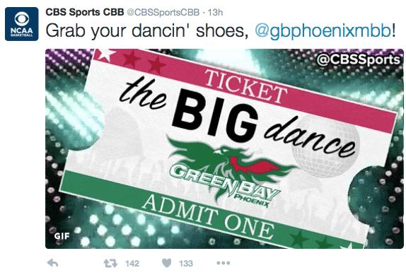 CBS Sports tweet