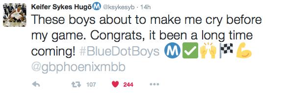 Keifer Sykes tweet