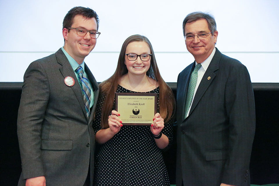 Lizzy Kroll, UW-Green Bay 2016 Student of the Year