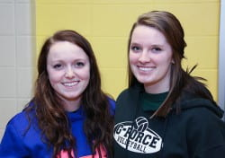 Rachel Cammack (left), Human Development major, Hannah Lilly (right), Human Development minor
