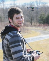 Cody Becker flying drone