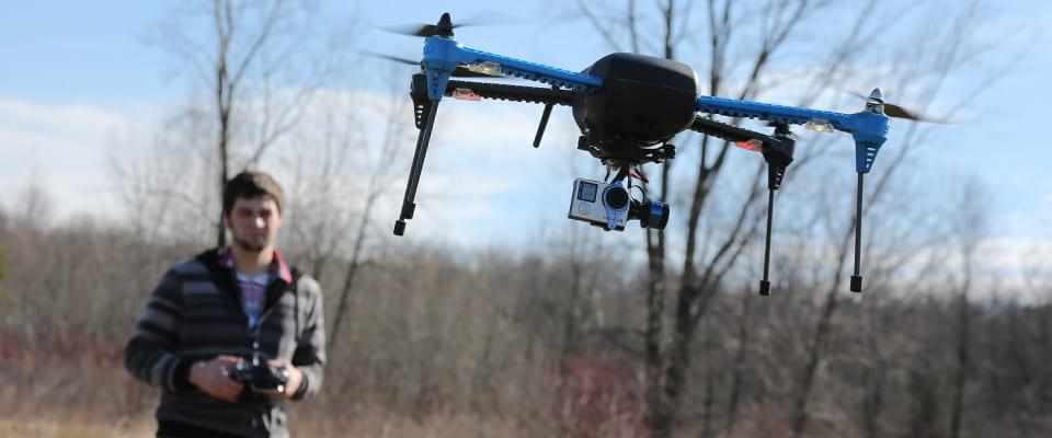 Cody Becker flying drone camera