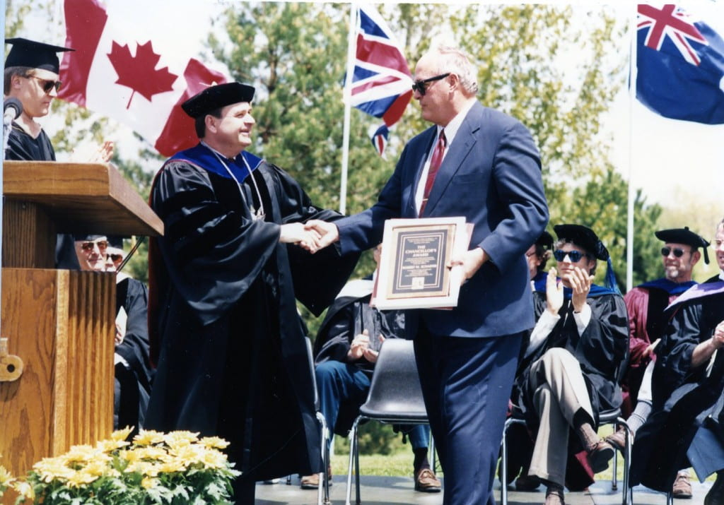 Bob Schaefer  Chancellor's Award May 20, 1995  Commencement