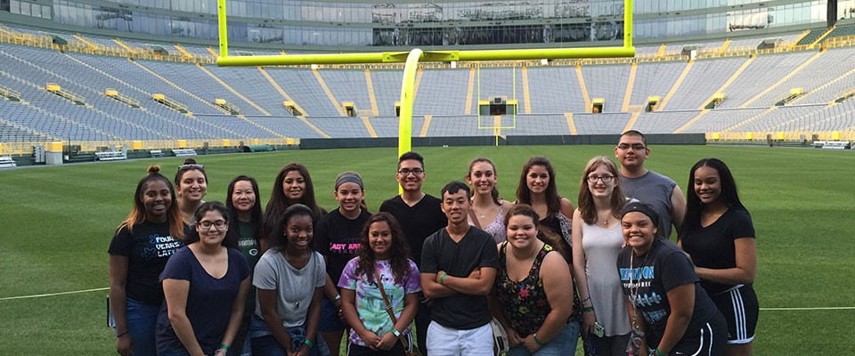UWGB Jump Start multicultural students tour Lambeau Field