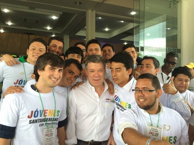 Tanner Vodvarka meeting the President of Colombia, Spring 2014