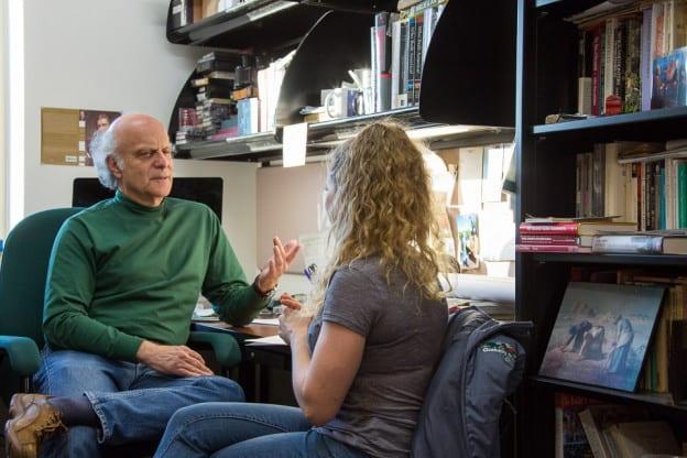 Prof. Harvey Kaye with Bree Mucha