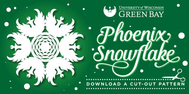 UW-Green Bay Phoenix Snowlfake