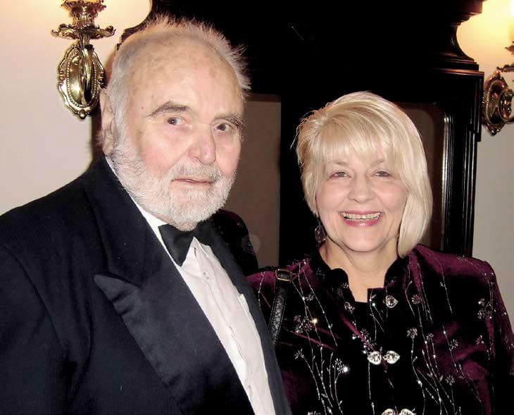Prof. Sarah Meredith, poses with Antonin Dvorak III, a great grandson of famed composer Antonin Dvorak.