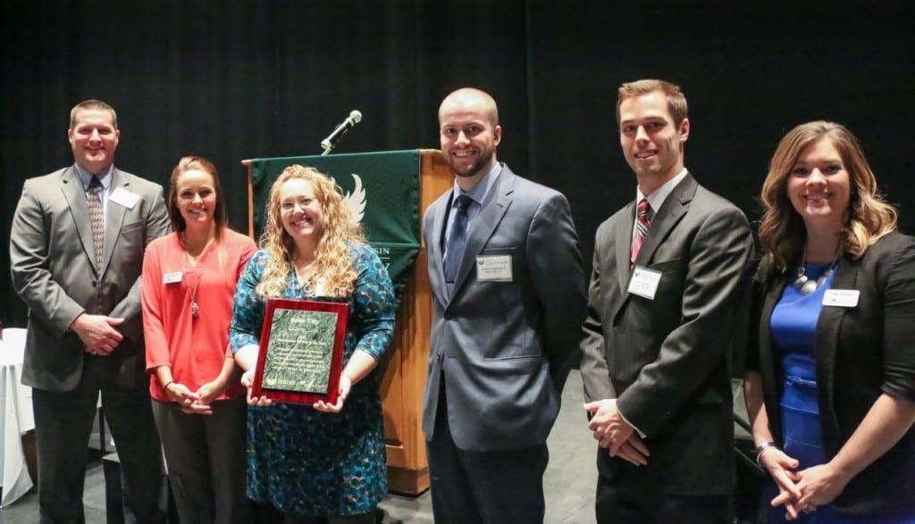 Group photo: Farmer, Tanya Brake, Matthew Wettstein, Adam Willems, Tara Tomter