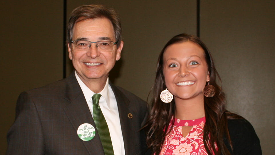 Chancellor Miller and Lexi Kinnard