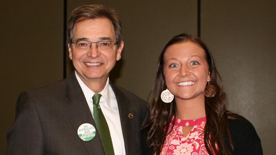 Chancellor Miller and Lexi Kinnard