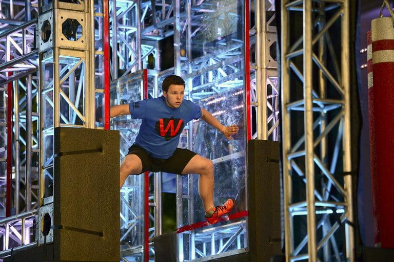 Luke Chambers competing on American Ninja Warrior - Season 9