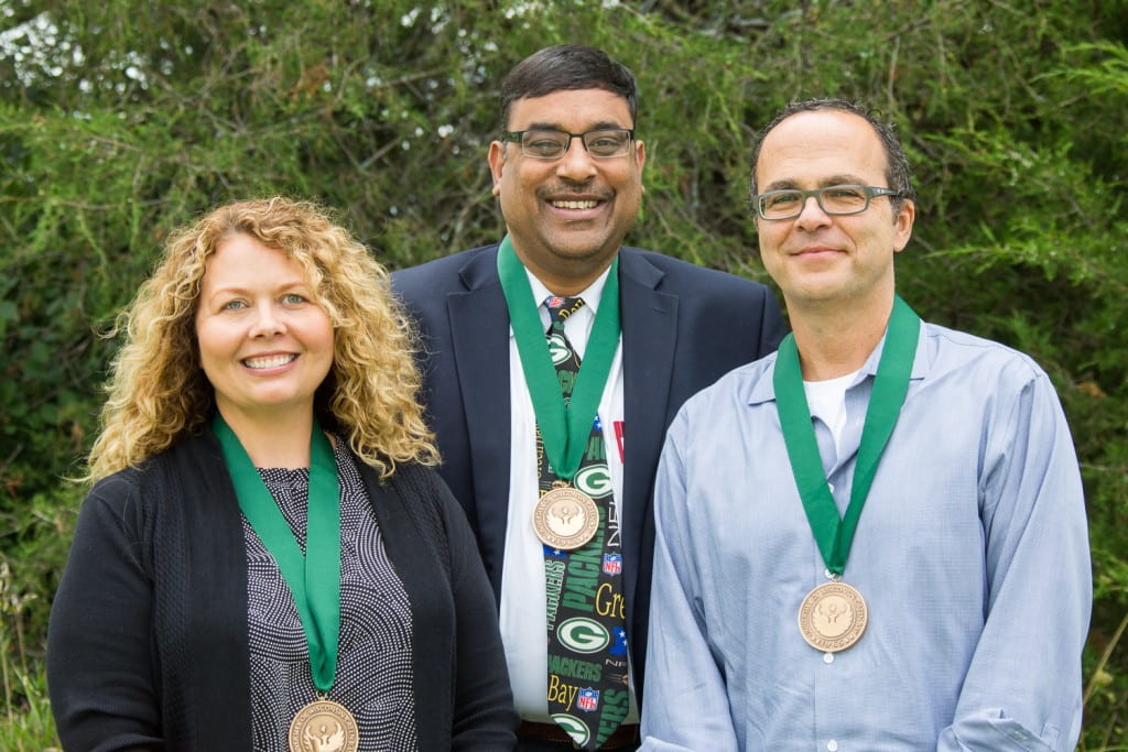 From left: Amy Wolf, Guarav Bansal, David Corey