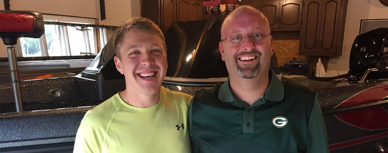Jordan Olson and Tim Lautenslager