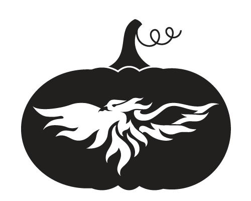 Athletics Phoenix Pumpkin Carving Pattern