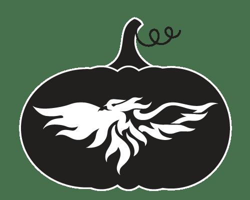Athletics Phoenix Pumpkin Carving Pattern