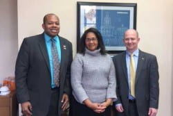 Meeting with Celestine Jeffreys, Chief of Staff to Mayor Jim Schmitt