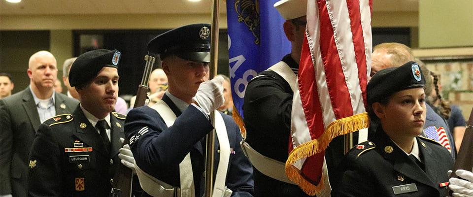 Color guard at the 2017 Veterans Reception