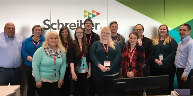 March 20, 2018 - UW-Green Bay International business students visit Schreiber Foods