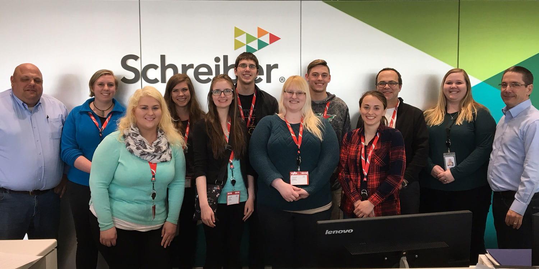 March 20, 2018 - UW-Green Bay International business students visit Schreiber Foods