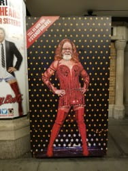 """Enstwistle attending the show, """"Kinky Boots."""""""