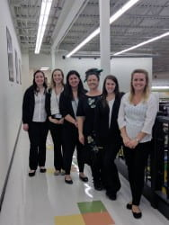 (Left to right) Grace Talbot, McKenzie Besch, Lauren Sommer, Moria Timmons, Amy Benz, Wensday Freiberg
