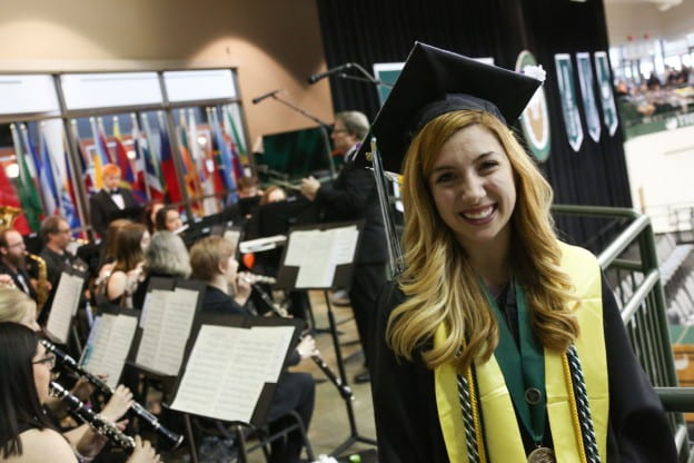 Emily Ahrens at Spring Commencement 2018