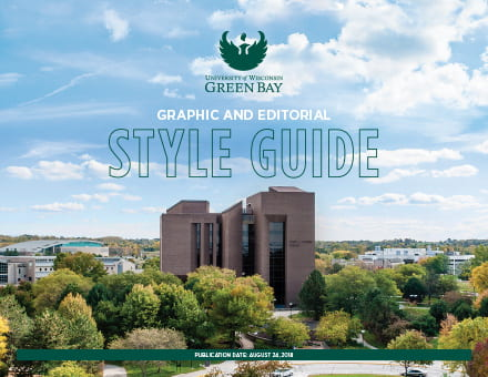 UW-Green Bay Style Guide Cover