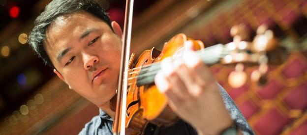Violin soloist, Wayne Lin