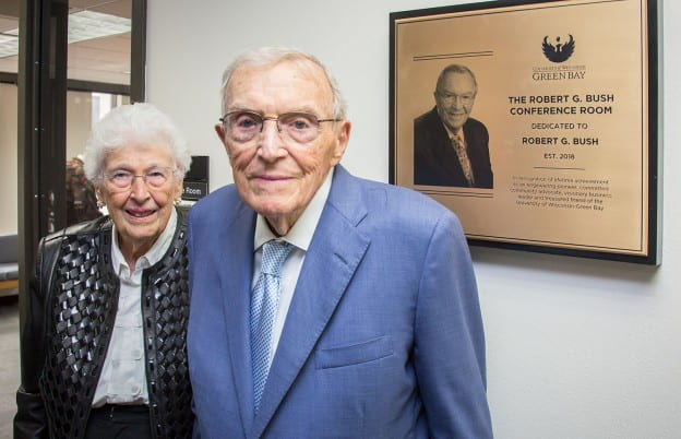 UW-Green Bay dedicates the Robert G  Bush Conference Room