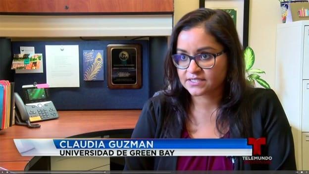 Claudia Guzman interviewed on Telemundo