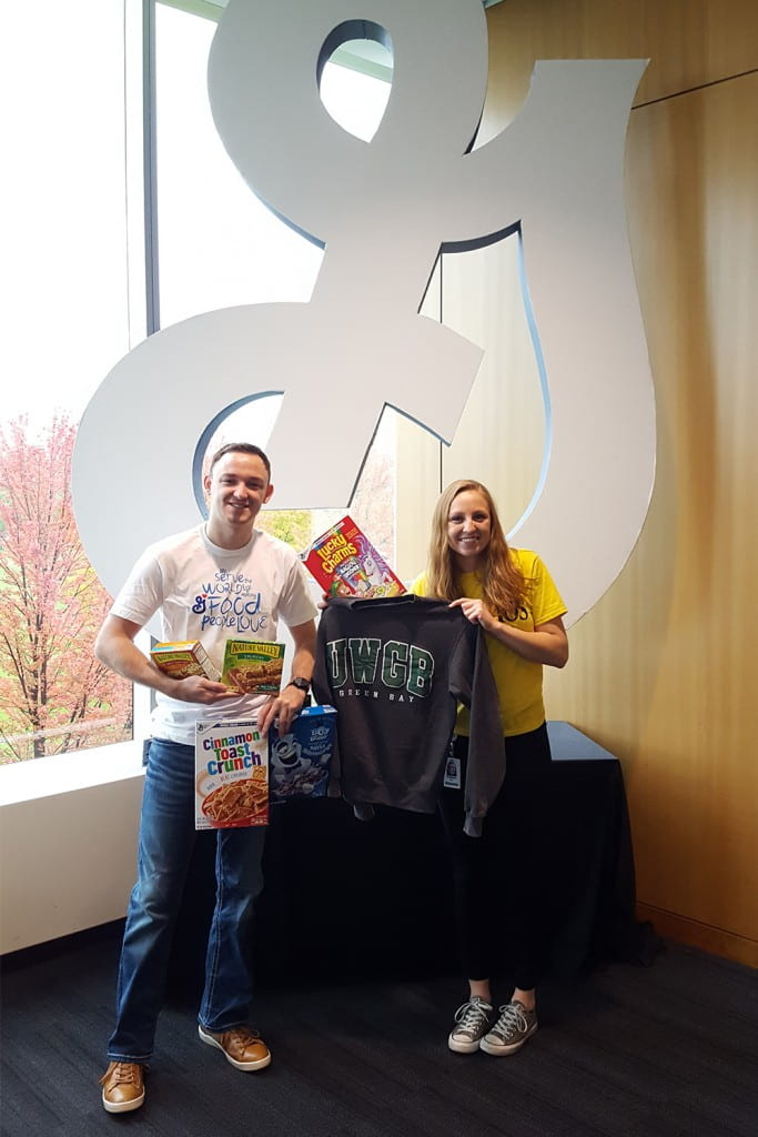 Jake Ambrosius '17 and Kailee Smits '18 at General Mills