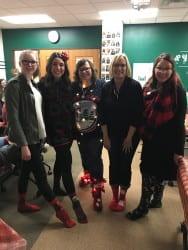 2018 Admissions Festive Holiday Sock Models