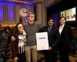 The Commons fall 2018 all UWGB student participants Leigh, Kroll, Ali, Van Remortel in order from left