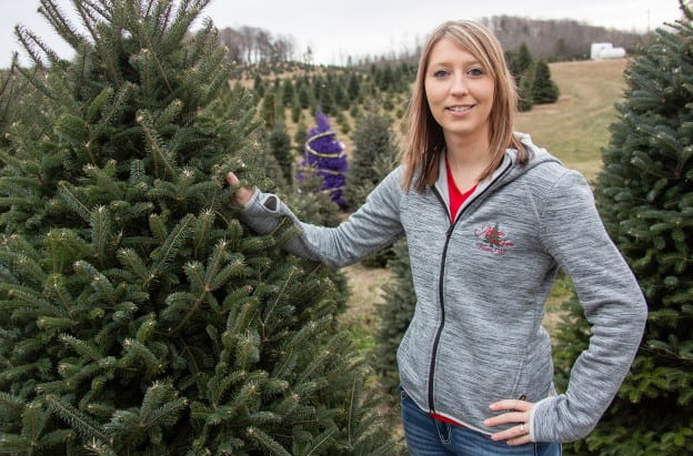 Skyla Aissen at Aissen Tree Farm