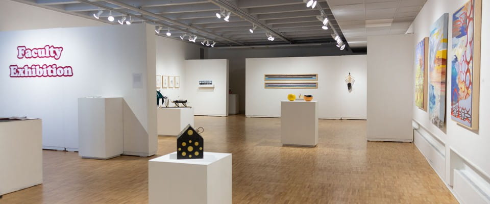 Faculty Art Exhibition in the Lawton Gallery