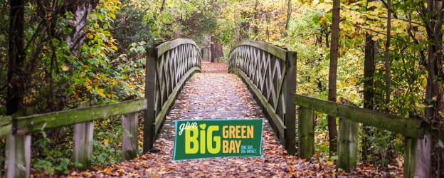 Give BIG Green Bay arboretum bridge